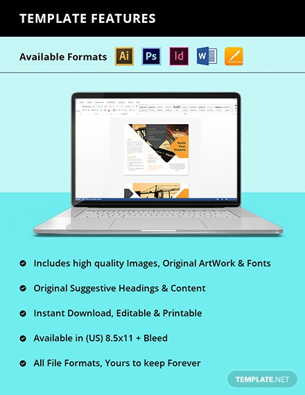 Stay Safe Work From Home Trifold Brochure Template Instruction
