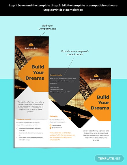 Stay Safe Work From Home Trifold Brochure Template Sample