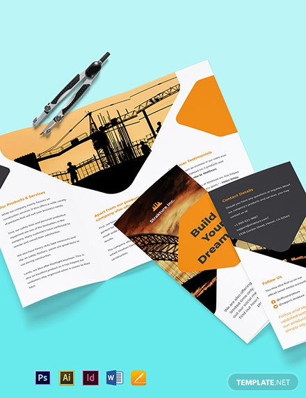 Stay Safe Work From Home Trifold Brochure Template