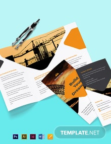 Stay Safe Work From Home Tri-Fold Brochure Template