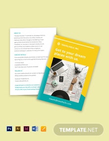 Bi-Fold Work From Home Brochure Template