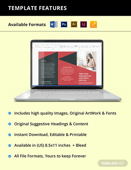 Trifold Work From Home Brochure Template Instruction