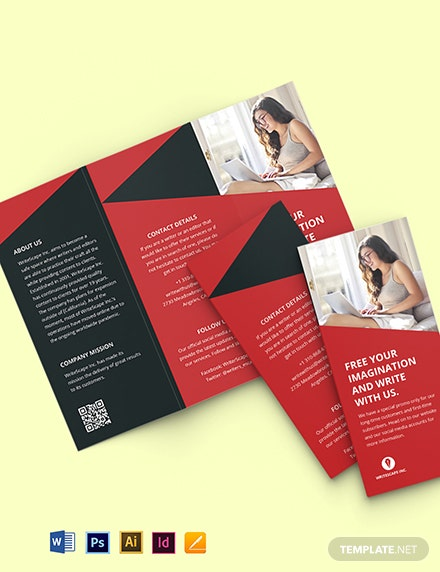 Trifold Work From Home Brochure Template