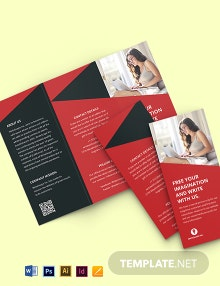 Tri-Fold Work From Home Brochure Template