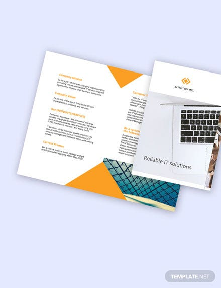Free Bifold Sample Work From Home Brochure about