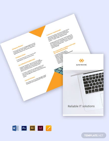 Free Bifold Sample Work From Home Brochure cover