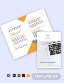 Free Bi-Fold Sample Work From Home Brochure Template