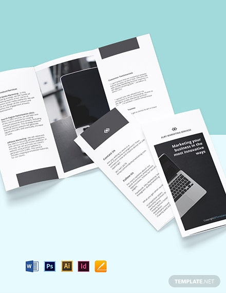 Free Trifold Sample Work From Home Brochure Template