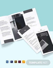 Free Tri-Fold Sample Work From Home Brochure Template