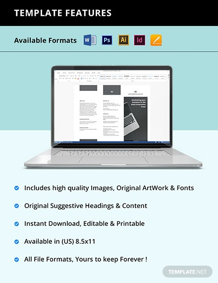 Free Trifold Sample Work From Home Brochure Template instruction