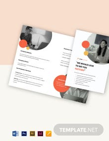 Free Bi-Fold Simple Work From Home Brochure Template