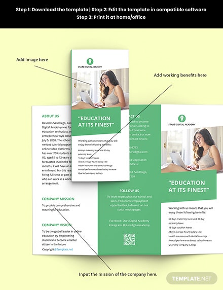 Free Trifold Simple Work Form Home Brochure Template Download