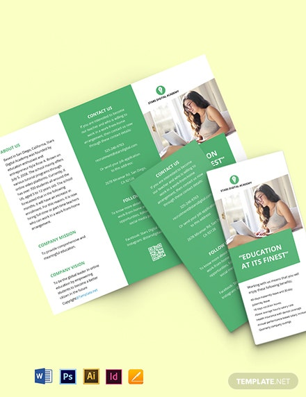 Free Trifold Simple Work Form Home Brochure Template