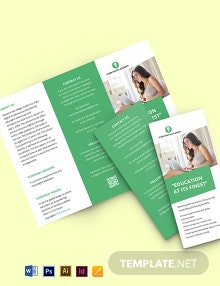 Free Tri-Fold Simple Work From Home Brochure Template