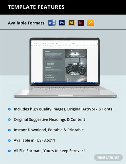 Free Modern Bifold Work From Home Brochure Template instruction