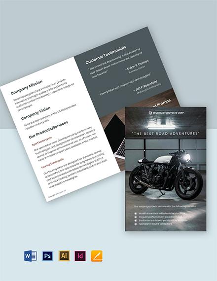 Free Modern Bifold Work From Home Brochure Template