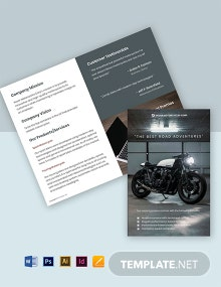Free Modern Bi-Fold Work From Home Brochure Template