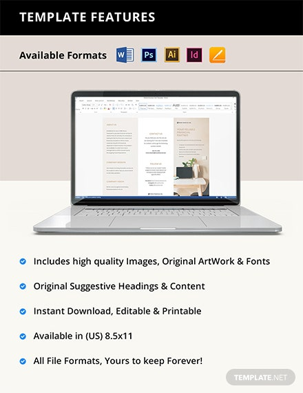Free Modern Trifold Work From Home Brochure Template instruction