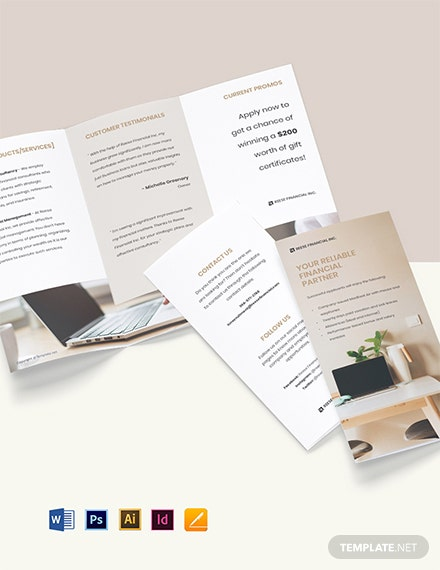 Free Modern Trifold Work From Home Brochure Template