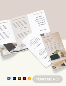 Free Modern Tri-Fold Work From Home Brochure Template