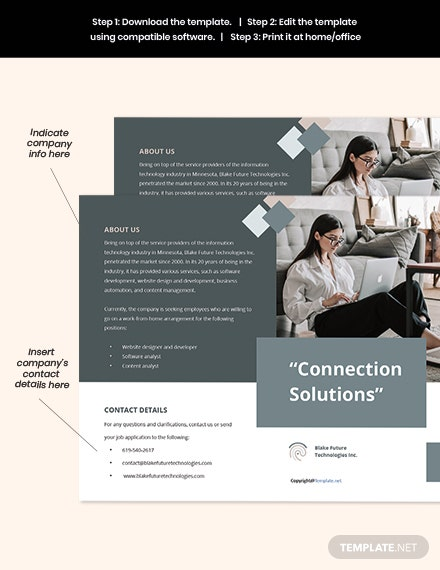 Free Creative Bifold Work Form Home Brochure Template format