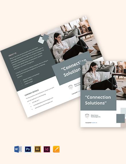 Free Creative Bifold Work Form Home Brochure Template
