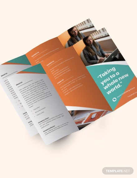 Free Creative Trifold Work Form Home Brochure Template sample