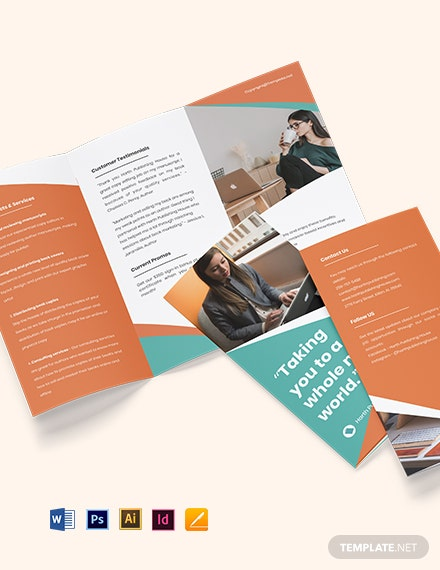 Free Creative Trifold Work Form Home Brochure Template