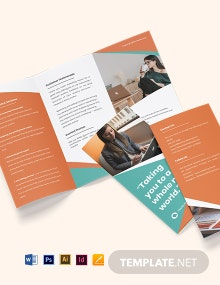 Free Creative Tri-Fold Work From Home Brochure Template