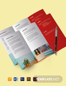 Work From Home Hiring Tri-Fold Brochure Template