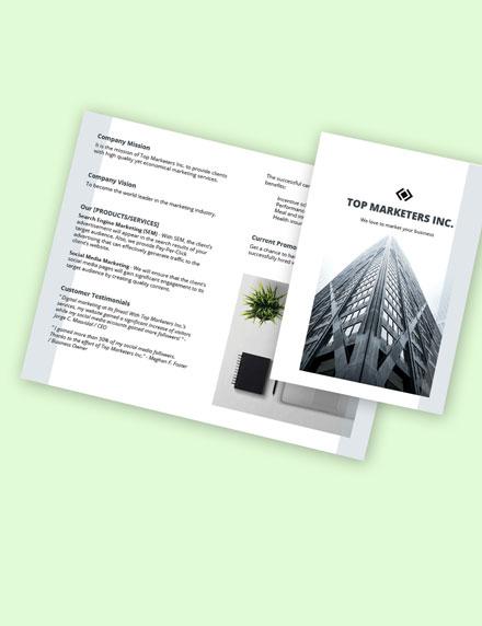 Work From Home Bifold Job Brochure Template format
