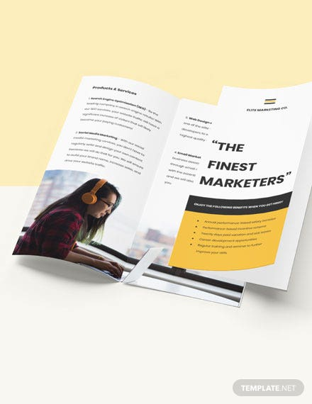 Work From Home Trifold Job Brochure Download