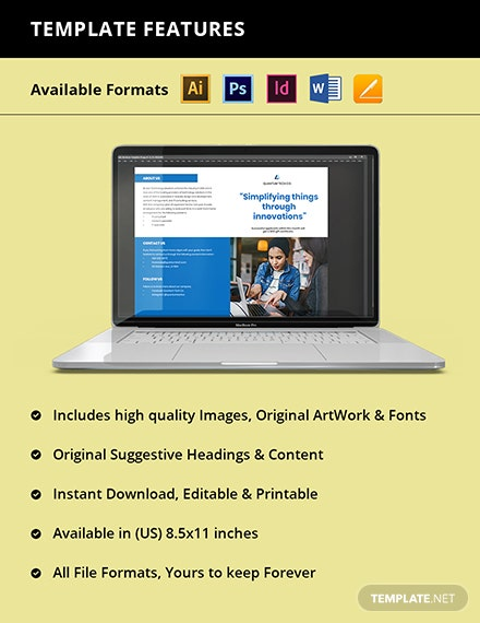 Working at Home Bifold Brochure Template Format