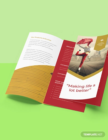 Working at Home Trifold Brochure Template Format