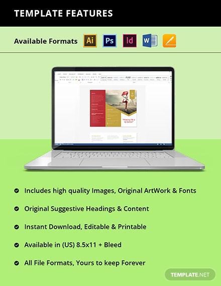 Working at Home Trifold Brochure Template Instruction copy