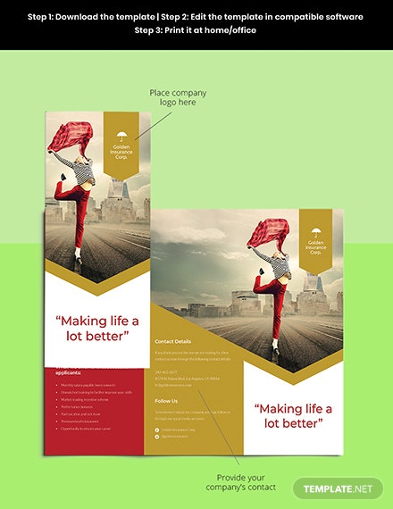 Working at Home Trifold Brochure Template Sample