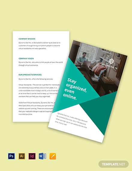 Bifold Work Online From Home Brochure Template
