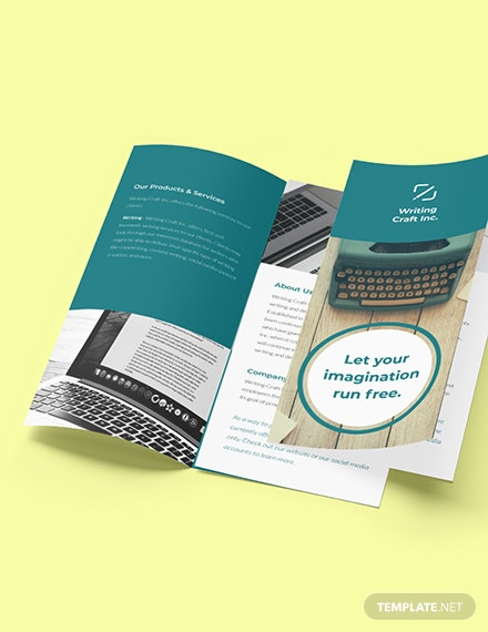 Trifold Work Online From Home Brochure Template Format