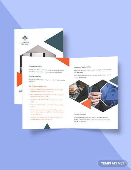 Stay Safe Work From Home Bifold Brochure Template Format