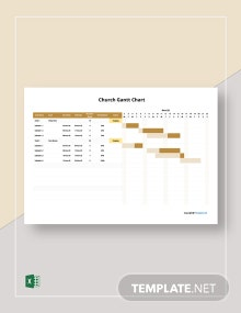 Free Basic Church Gantt Chart Template