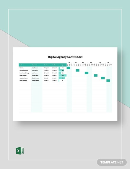 Digital Agency Gantt Chart Template