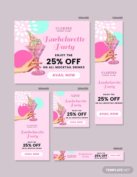 Bachelorette Party Banner Template