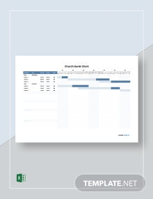 Free Editable Church Gantt Chart Template
