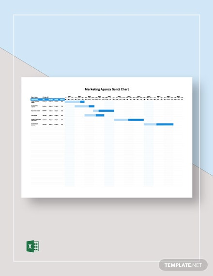 Marketing Agency Gantt Chart Template