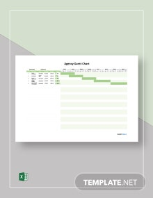 Free Sample Agency Gantt Chart Template
