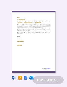 Free Resignation Letter Template Due to Study