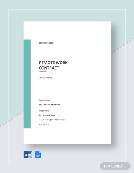 Free Remote Work Contract Template