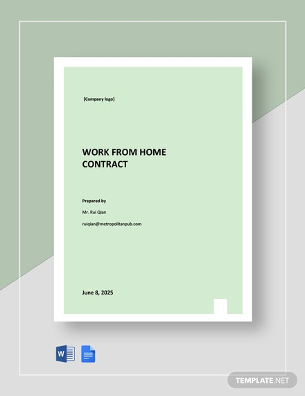 Work From Home Employment Contract