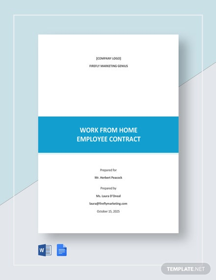 Work From Home Employee Contract Template