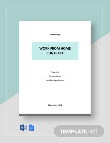 Work From Home Jobs Contract Template